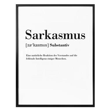 Poster Grammatik - Sarkasmus