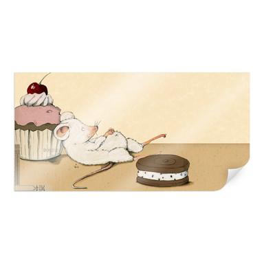 Poster Loske - Maus mit Muffin - Panorama