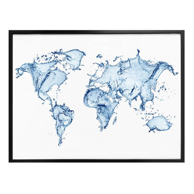 Poster Weltkarte - Splashing Worldmap