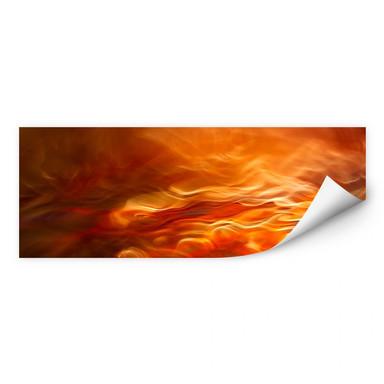 Wallprint Marthinussen - Burning Water - Panorama