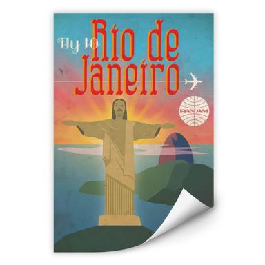 Wallprint PAN AM - Fly to Rio de Janeiro