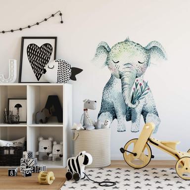 Wandtattoo Kvilis - Schlummerndes Elefantenbaby