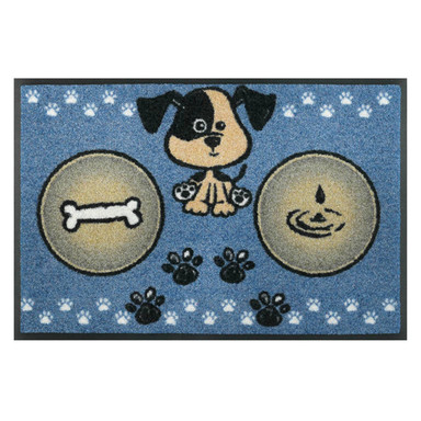 Wash&Dry Fussmatte Hundemahlzeit blau 40x60cm