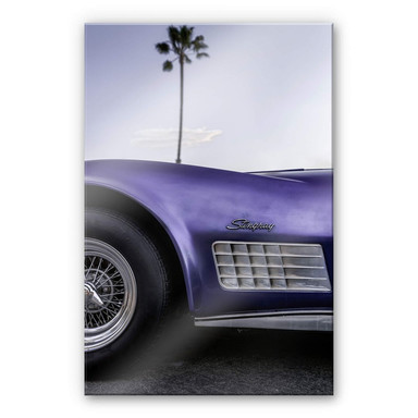 Acrylglasbild Ochlich - Violet Oldtimer