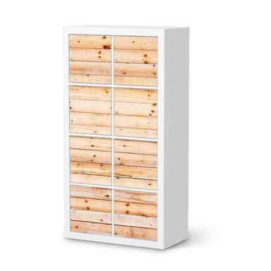 Folie IKEA Kallax Regal 8 Türen - Bright Planks- Bild 1