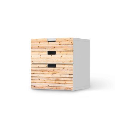 Folie IKEA Stuva / Malad Kommode - 3 Schubladen - Bright Planks