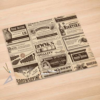 Folienbogen (150x100cm) - Vintage Newspaper