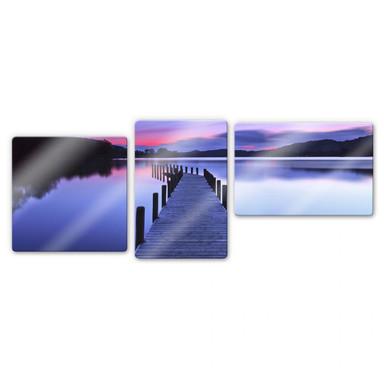Glasbild Seepanorama (3-teilig)