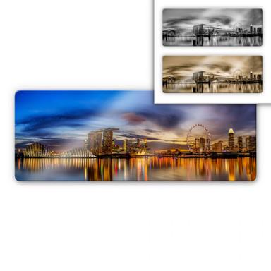 Glasbild Xie - Lights in London - Panorama