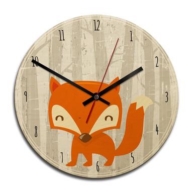 Holz-Wanduhr - Fox o clock