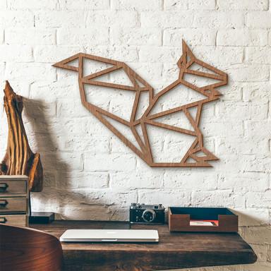 Holzkunst Mahagoni - Origami Eichhörnchen