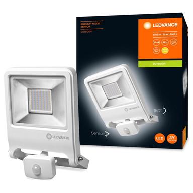 LED Flutlicht Endura in Weiss 50W 4500lm IP44 mit Bewegungsmelder