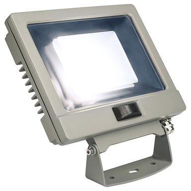 LED Strahler Spoodi mit Bewegungsmelder in Silbergrau 30W 2500lm 4000K