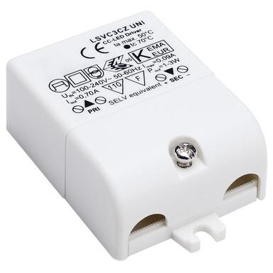 LED Treiber, 230 V, mit Zugentlastung, 3 W, 700mA - Bild 1