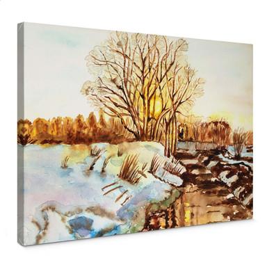 Leinwandbild Toetzke - Goldener Winter