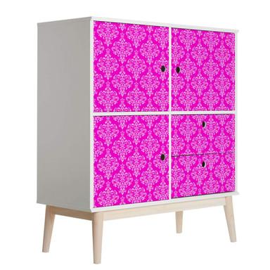 Möbelfolie, Dekofolie - abwischbar - Barock Pink