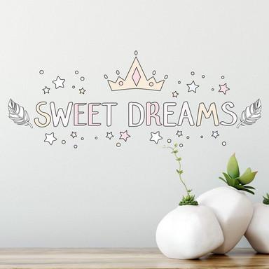 Wandtattoo Kvilis - Schriftzug Sweet Dreams
