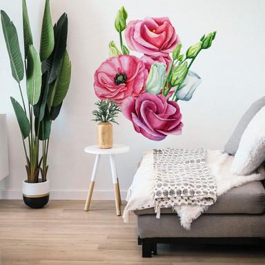 Wandtattoo Rosa Blumengebinde