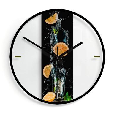 Wanduhr aus Glas - Belenko - Splashing Lemonade Ø30cm