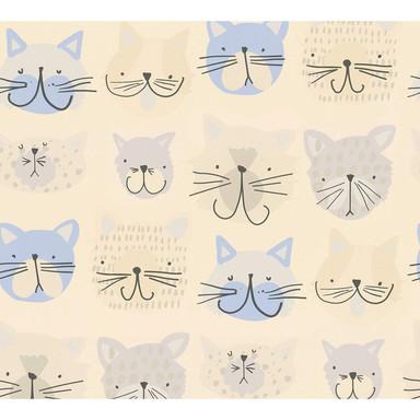 A.S. Création Papiertapete Boys & Girls 6 Tapete mit Katzen blau, creme, grau