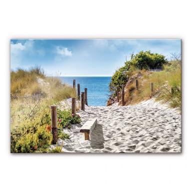 Acrylglasbild Küstenblick