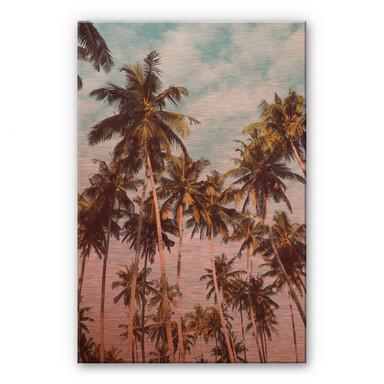 Alu-Dibond-Kupfereffekt Palmen 08