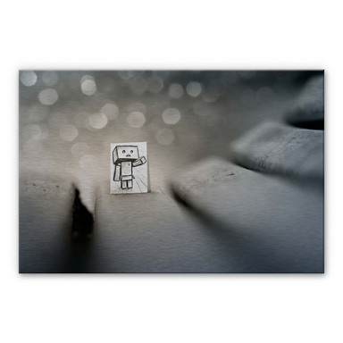 Alu-Dibond-Silbereffekt Heine - Sei mein Freund