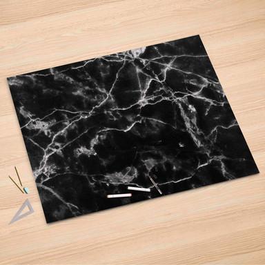 Folienbogen (150x100cm) - Marmor schwarz
