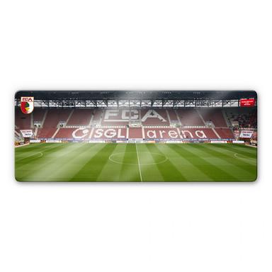 Glasbild FC Augsburg Stadion Tribüne Panorama