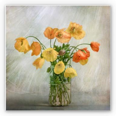 Hartschaumbild Disher - Mohnblumen im Glas