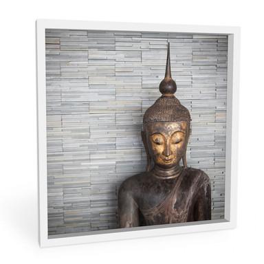 Hartschaumbild Thailand Buddha - quadratisch