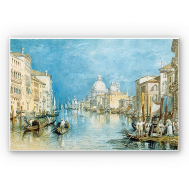 Hartschaumbild Turner - Venedig, Canale Grande