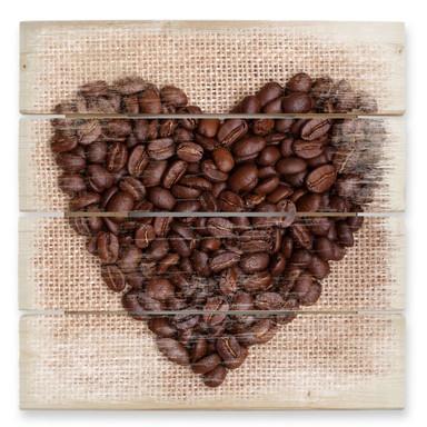 Holzbild I love Coffee