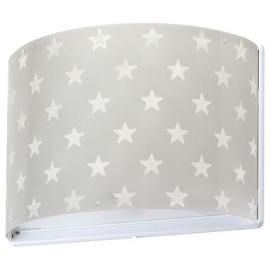 Kinderzimmer Wandleuchte Stars in Grau fluoreszierend E27