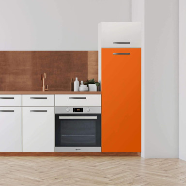 Klebefolie - Hochschrank (60x160cm) - Orange Dark- Bild 1