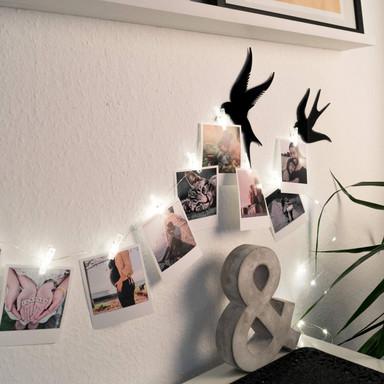 LED Lichterkette für Fotos mit Klammern - Bild 1