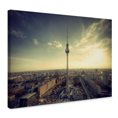Leinwandbild Berliner Fernsehturm Panorama