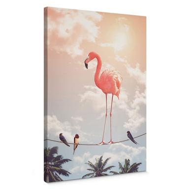 Leinwandbild Loose - Flamingo and Friends