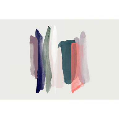 Livingwalls Fototapete ARTist Near mit Aquarell Zeichnung blau, creme, grün, rot - Bild 1