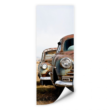 Wallprint - Old Rusted Cars - Panorama