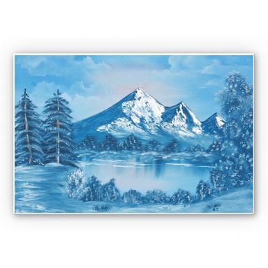 Wandbild Toetzke - Alpsee in den Bergen