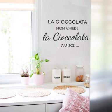Wandtattoo La cioccolata non chiede...