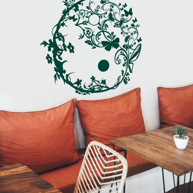 Wandtattoo Yin Yang Ornamental
