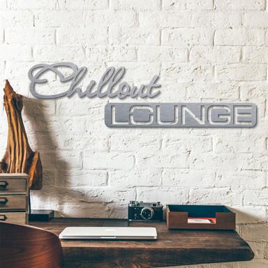 Alu-Dibond Buchstaben - Silbereffekt - Chillout Lounge
