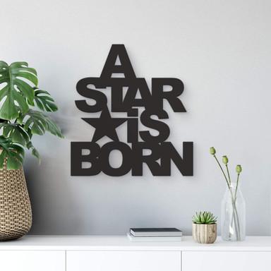 Dekobuchstaben 3D - A Star is Born