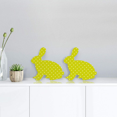 Dekobuchstaben 3D Hase farbig