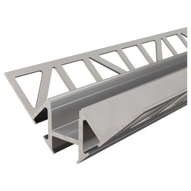 Fliesen-Profil Ecke innen EV-01-12 für 12 - 13.3 mm LED Stripes, Silber-eloxiert, 1250 mm
