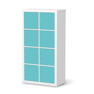 Folie IKEA Kallax Regal 8 Türen - Türkisgrün Light- Bild 1