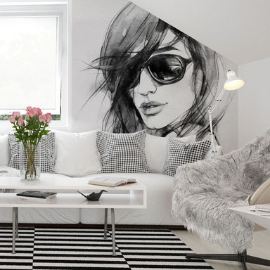 Fototapete - I wear my sunglasses - 288x260cm - Bild 1