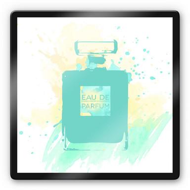 Glasbild Eau de Parfum Aquarell - Mint